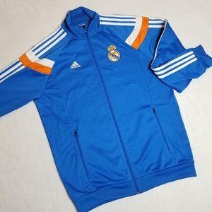 ADIDAS Real Madrid Track Jacket Blue Orange size M